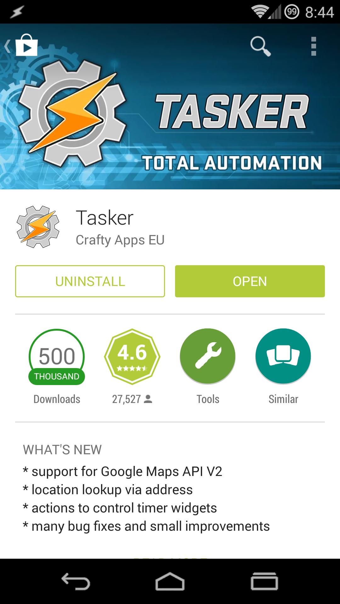 Make sure Tasker is installed!