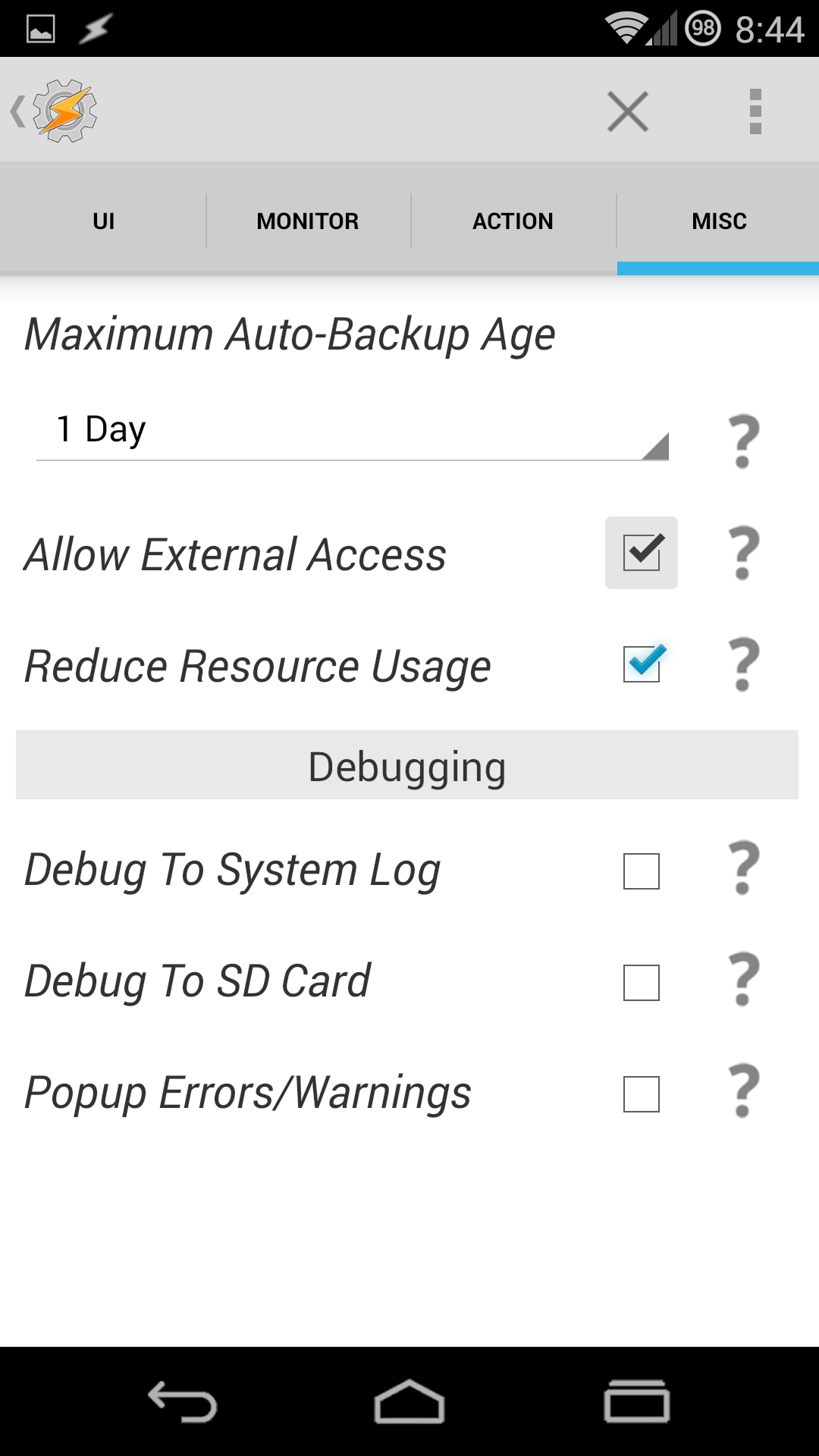 Go to the Misc tab and Enable External Access
